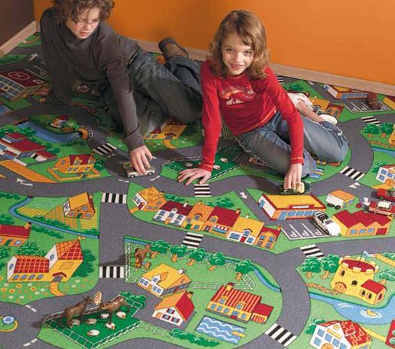 Detské metrážne koberce v rôznych rozmeroch, farbách a