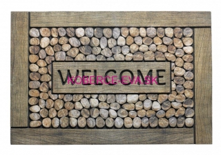 Rohožka 318 Eco Master 020 welcome framed pebbles